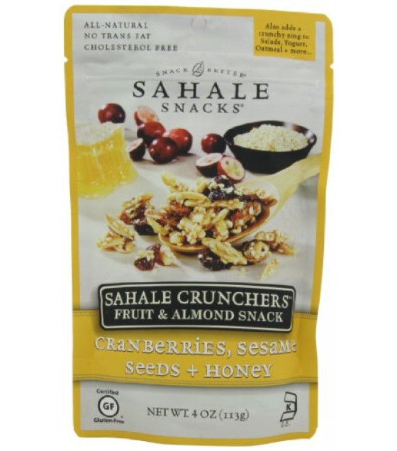 [Sahale Snacks] Crunchers/Fruit & Almond Cranberries Sesame Seed Honey