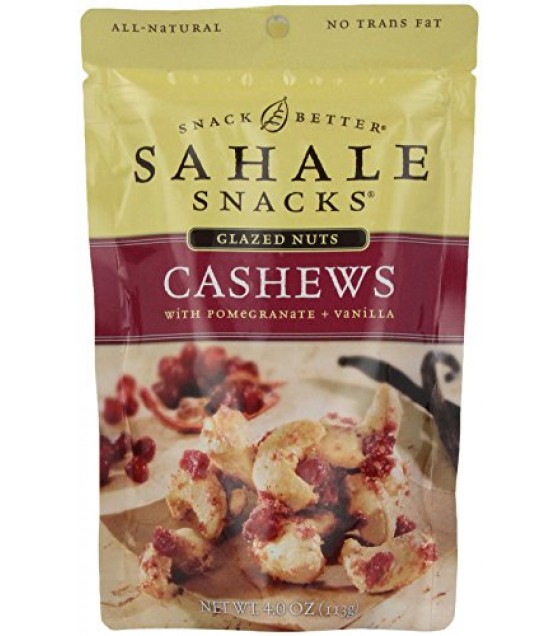 [Sahale Snacks] Glazed Nut Blends Cashews With Pomegranate & Vanilla