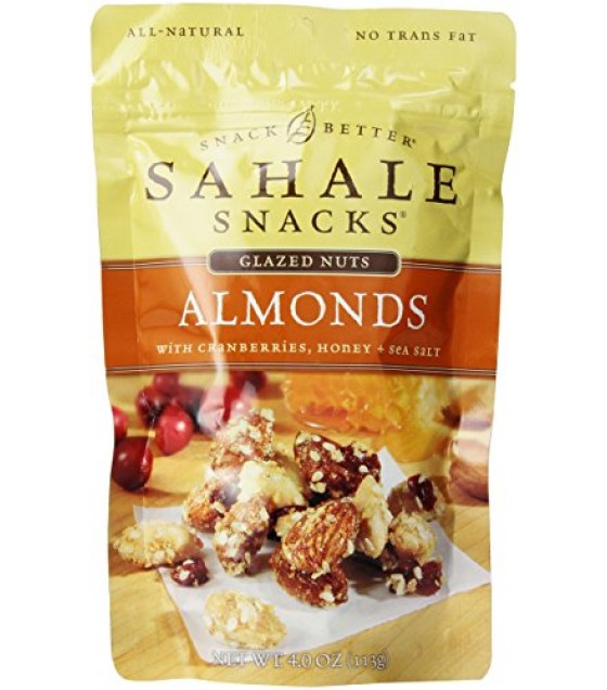 [Sahale Snacks] Glazed Nut Blends Almonds w/Cranberries, Honey, Salt