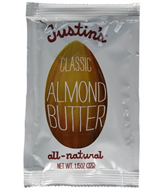 [Justin`S] Nut Butters - Individual Squeeze Packs Almond, Classic