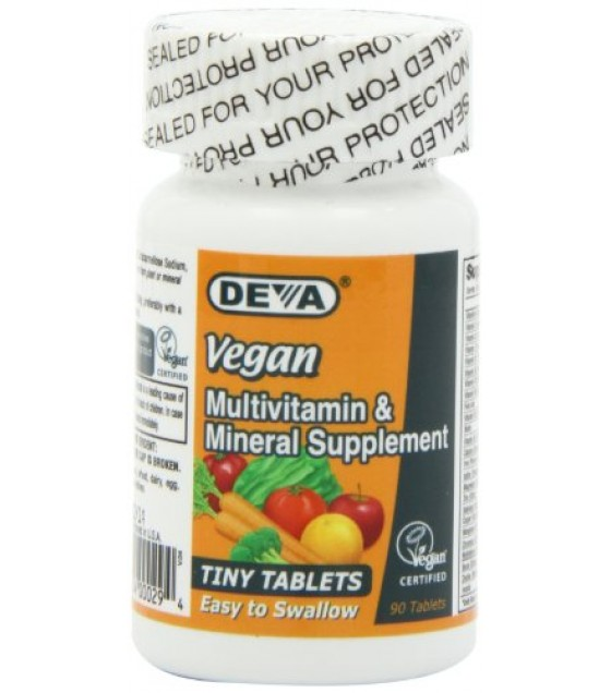 [Deva]  Multivitamin & Mineral, Tiny Tabs