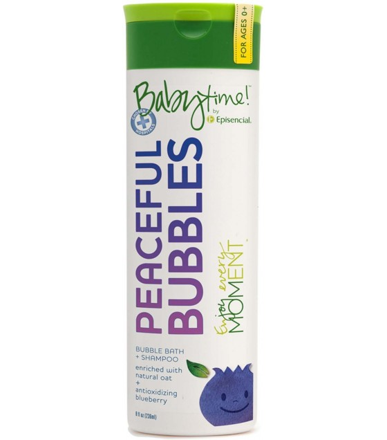 [Babytime] Peaceful Bubbles Bubble Bath + Shampoo, Blueberry