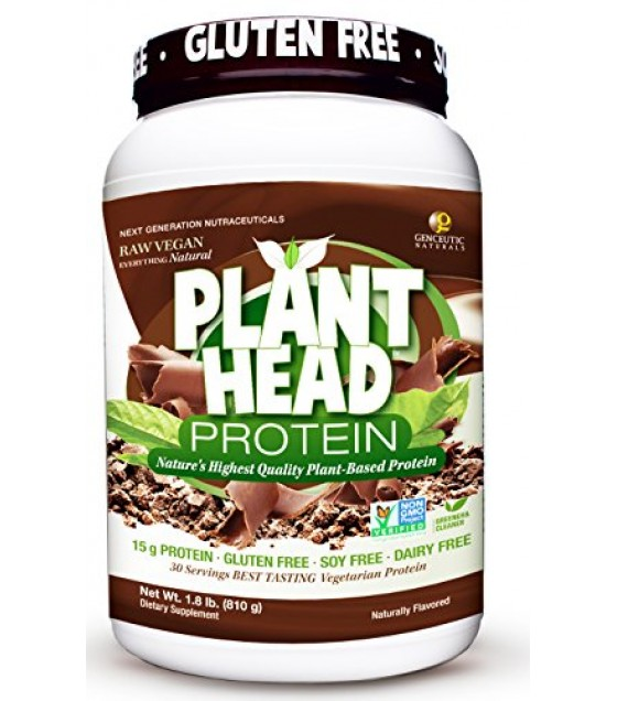 [Genceutic Naturals]  Plant Head Protein Chocolate