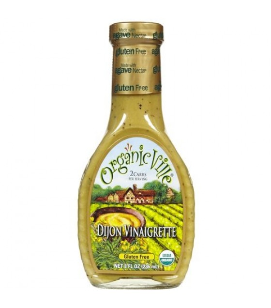 [Organicville] Salad Dressings Dijon Vinaigrette  At least 95% Organic
