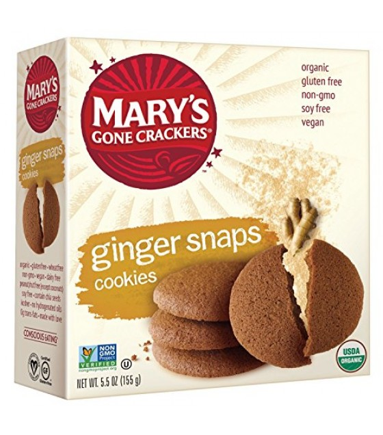[Mary`S Gone Crackers] Cookies Ginger Snaps  At least 95% Organic