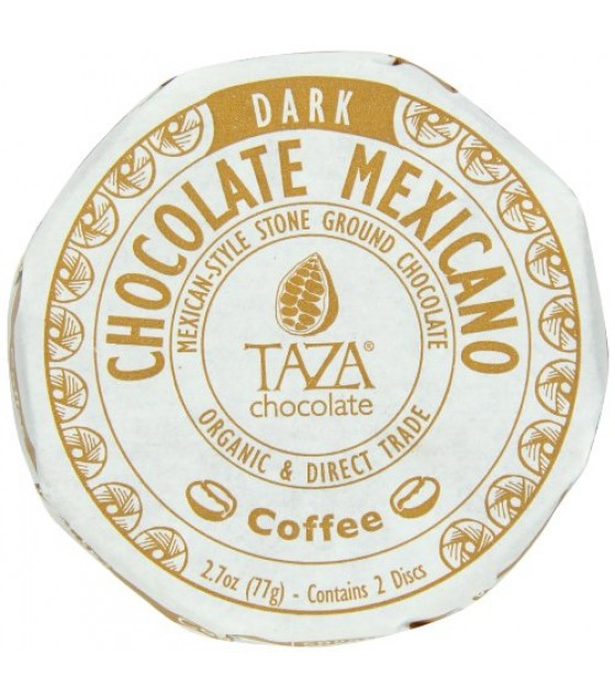 [Taza Chocolate] Organic Chocolate Mexicano-Bar Coffee  At least 95% Organic