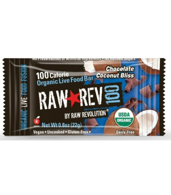 [Raw Revolution] BAR,OG2,CHOC CNUT,100 CAL  At least 95% Organic